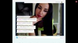 Seksowny rosyjski nastolatek dziewczyna pokaz kamery internetowej